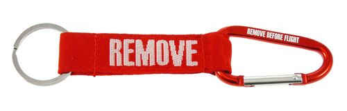 "Key Chain Carabiner "" REMOVE BEFORE FLIGHT  incl. keyring"