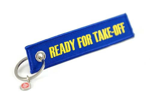 "Key Chain "" READY FOR TAKE OFF "" incl. keyring"