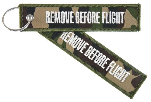 "Key Chain "" REMOVE BEFORE FLIGHT"" incl. keyring camouflage"
